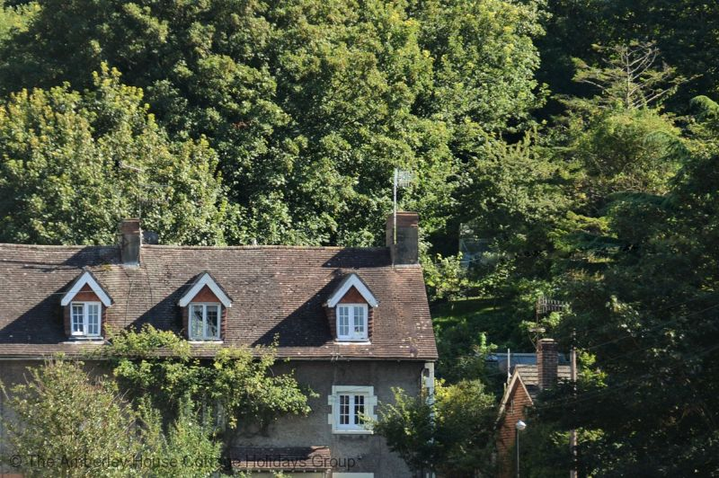 Large Image - Gran's Cottage (on the right) tucked in amongst the trees