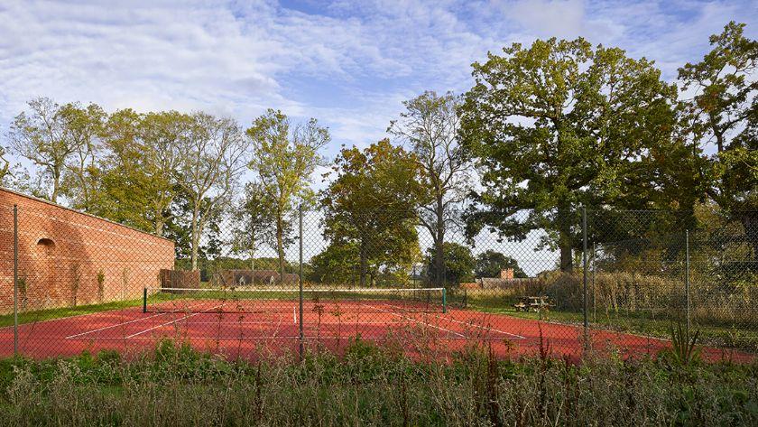 Open air tennis court