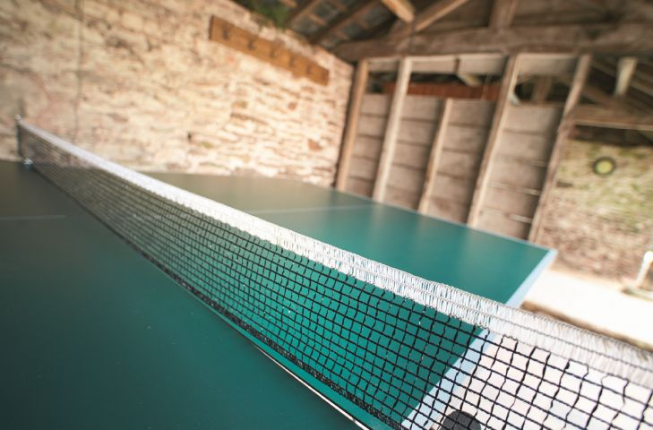 The second adjoining barn houses the table tennis