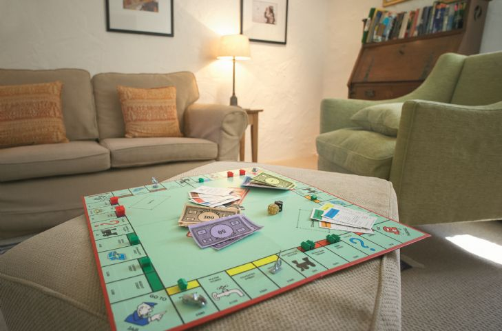 Ground floor:  the other end of the large sitting room, where you can sit and read or play a game whilst others are watching television