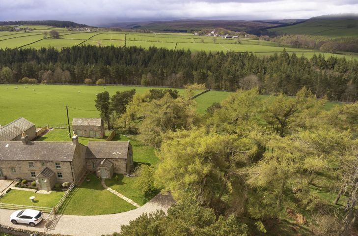 Beautiful countryside of the North Pennines around Bale Hill Cottage