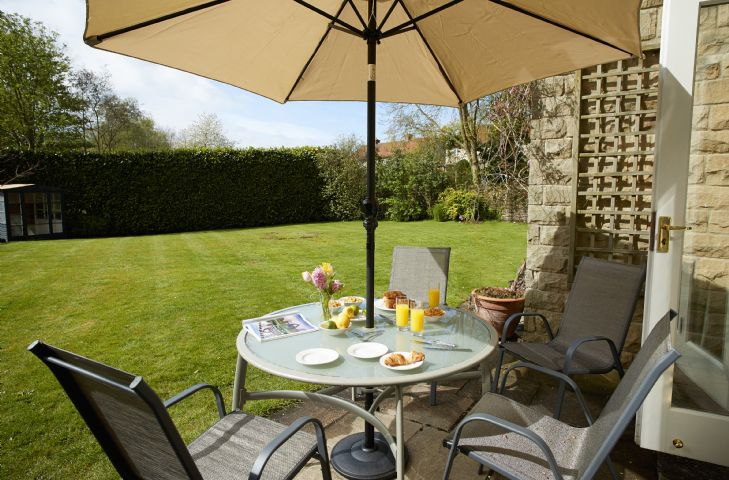 Enjoy the Yorkshire sunshine on the paved patio area