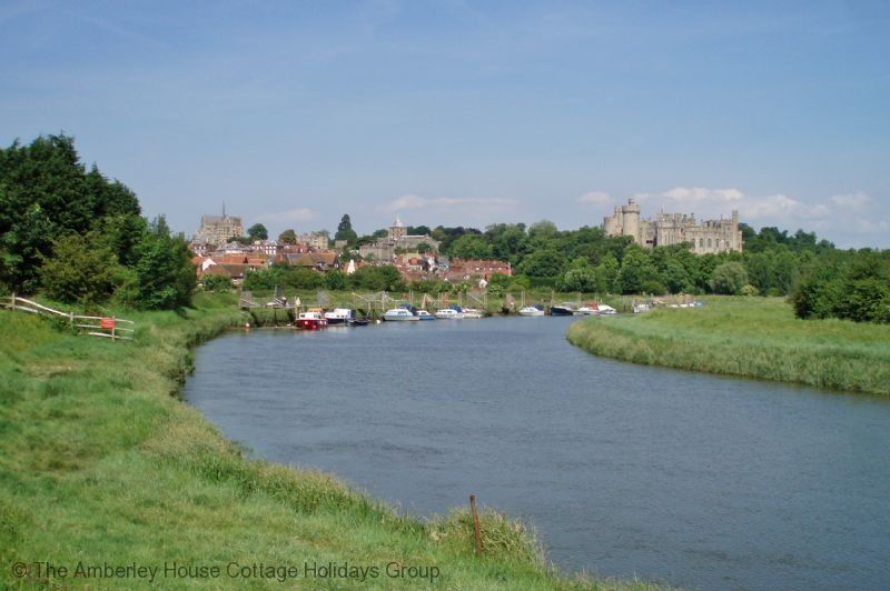 Large Image - Arundel Castle and Cathedral from the River Arun