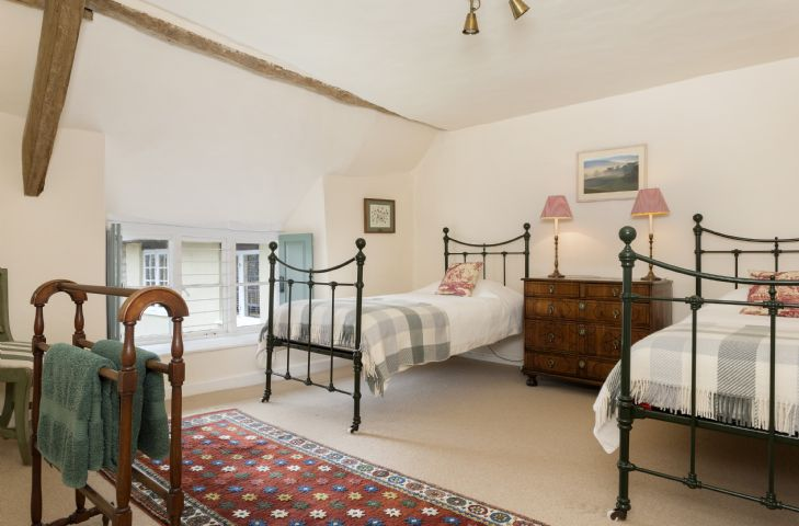 First floor: Bedroom with twin 3' single beds