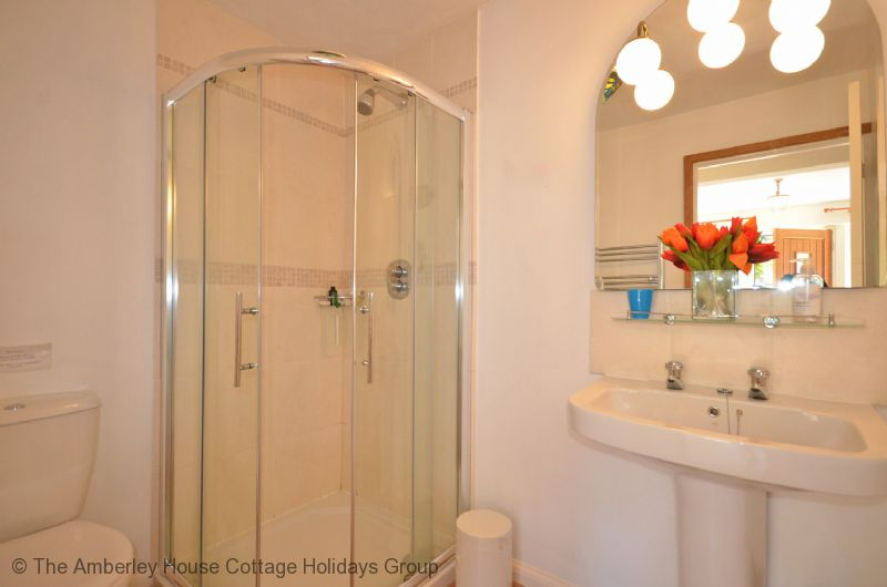 Large Image - The ground floor bathroom with corner shower