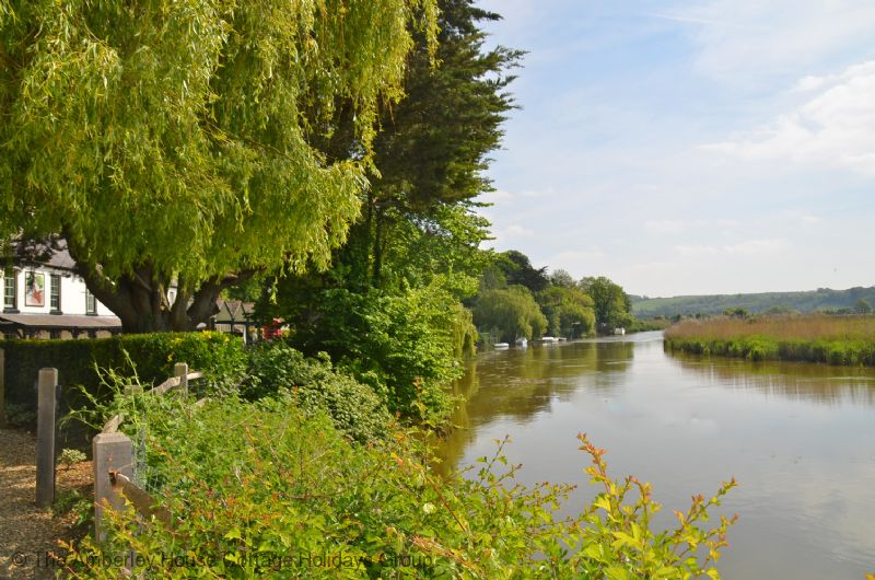 Large Image - Views of the River Arun from the Black Rabbit pub in Arundel