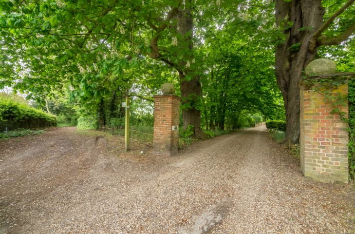 Grand picturesque driveway to Witnesham Hall