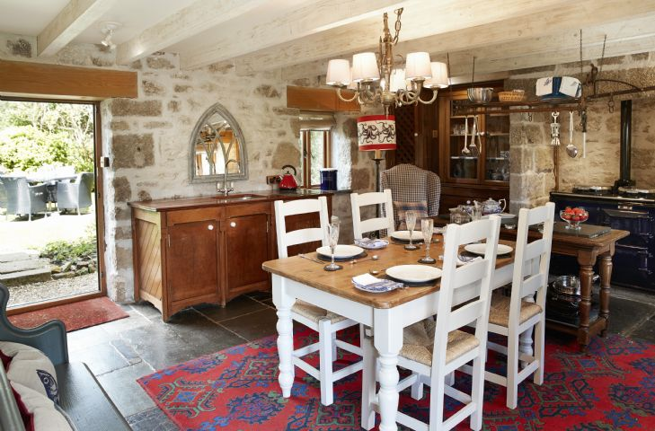 Ground floor: Characterful open plan kitchen and dining room with Aga