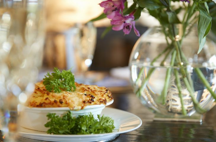 A complimentary fish pie awaits you