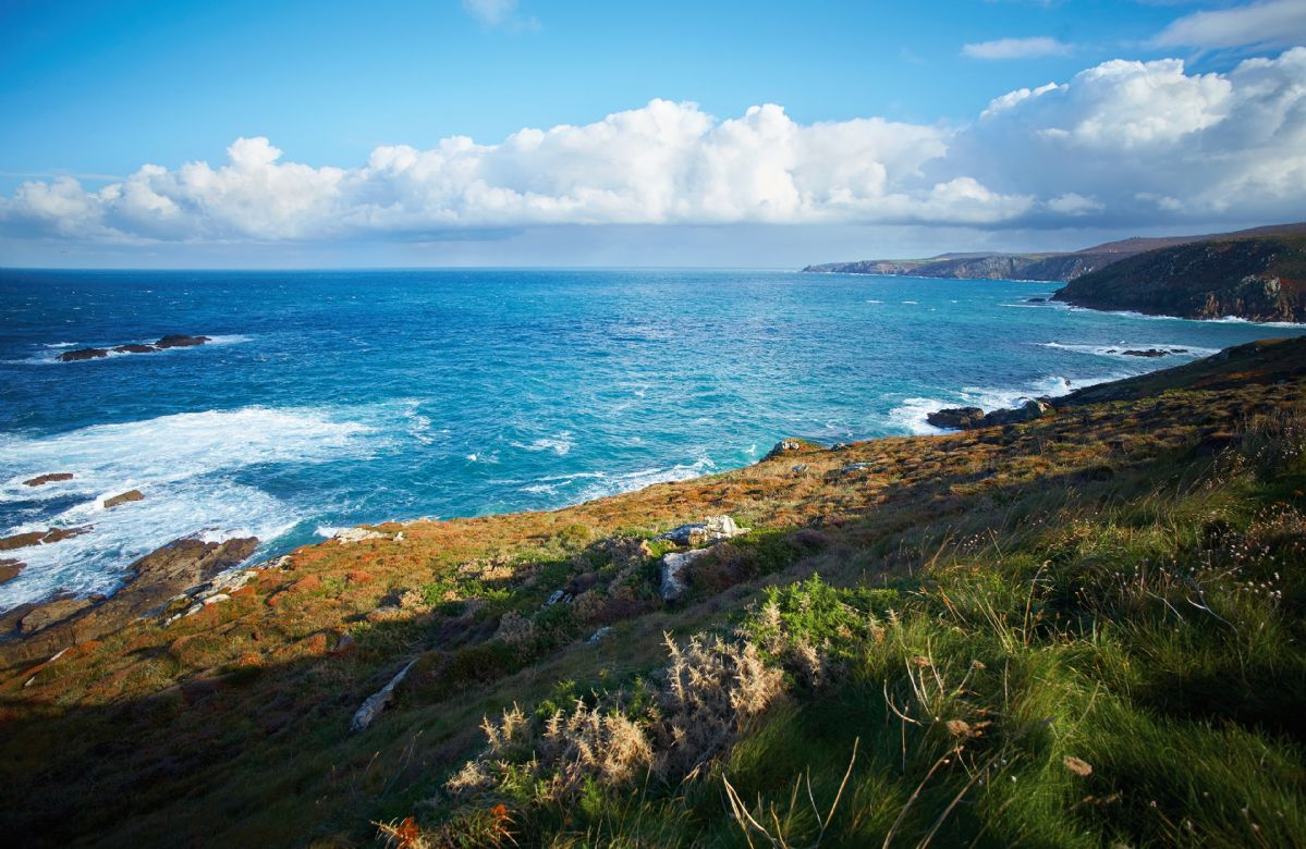 The South West Coast path passes round the headland, passing through part of Cornwall's oldest mining areas