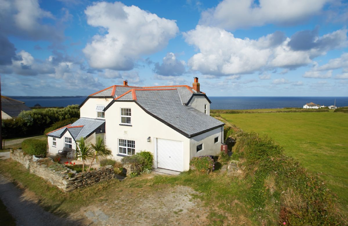 Merlins Cottage with its panoramic sea views