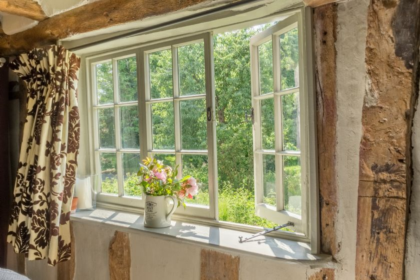 Ground floor: View to the garden through window