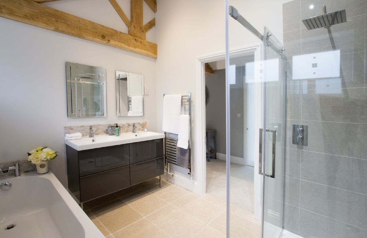 Ground floor:  Bathroom with separate shower cubicle