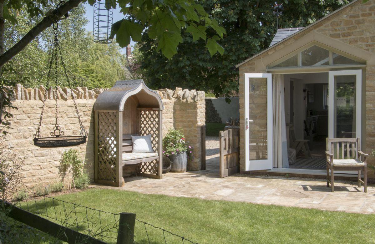 Private, enclosed garden
