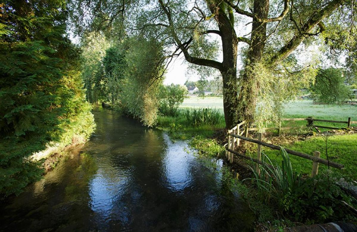 The river that runs through the village