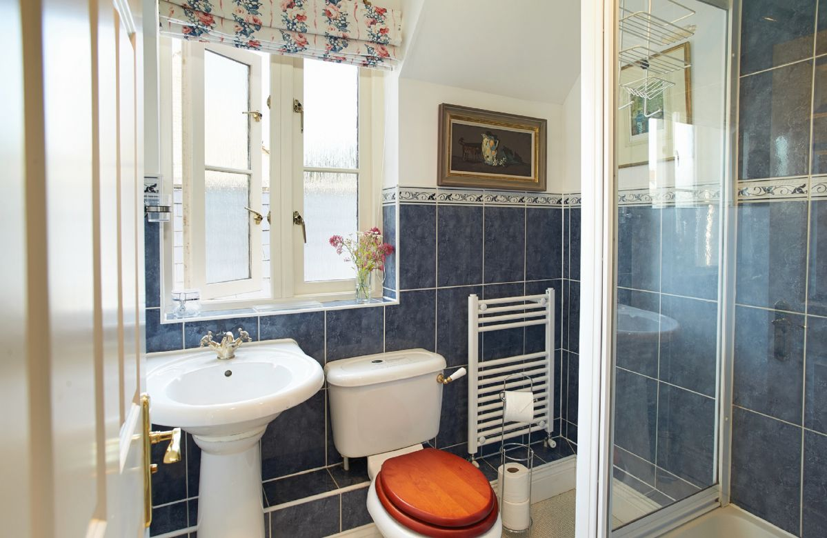 First floor: Shower room that adjoins the twin bedroom