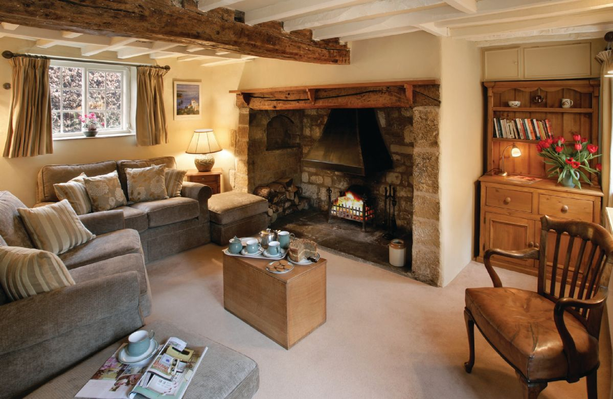 Ground floor: Sitting room with inglenook fireplace