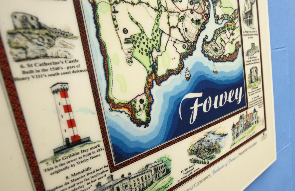Map of historic Fowey