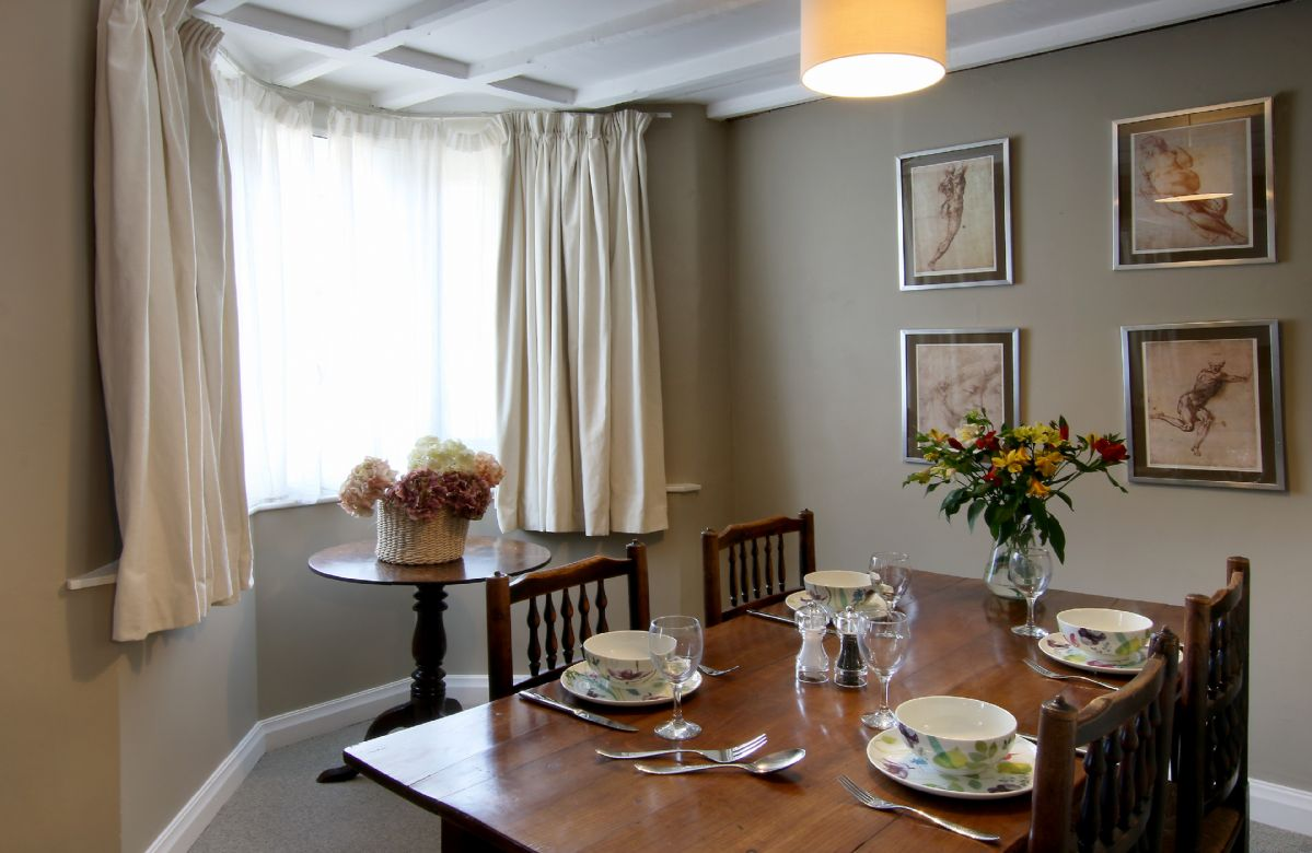 Ground floor: Dining table