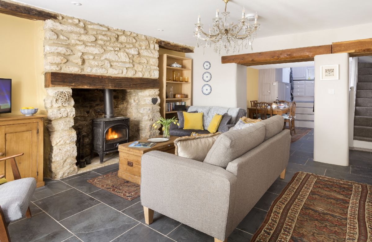 Ground floor: Sitting room with wood burner