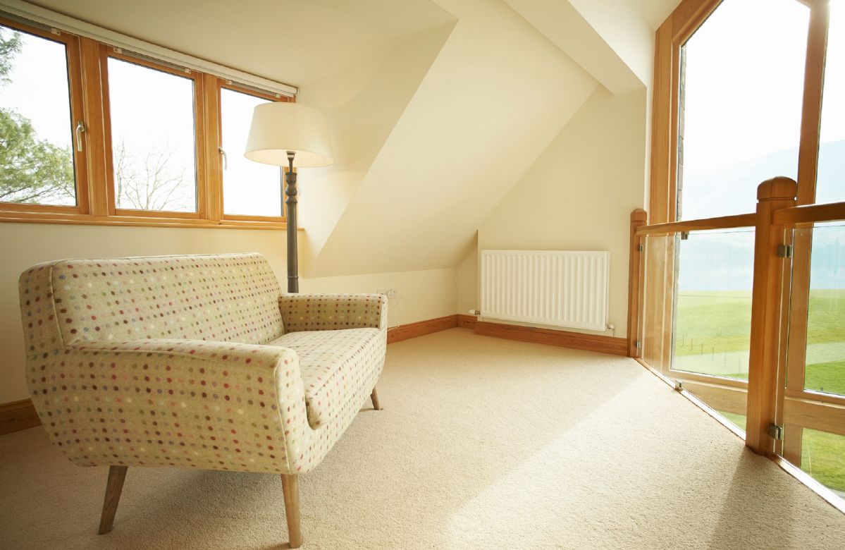 Second floor: Mezzanine seating area off the master bedroom with views towards Lake Ullswater