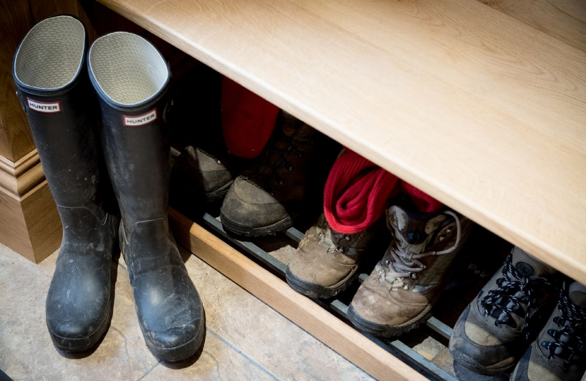 Ground floor: Boot room with plenty of space for outdoor coats, boots and shoes