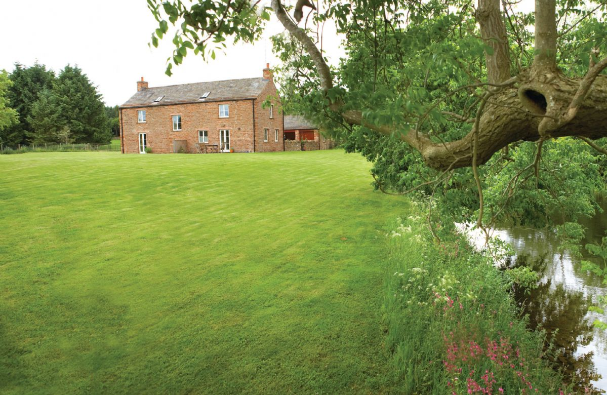 Udford House with accommodation for 6 Guests is a recent barn conversion which sits in a secluded spot in Cumbria by the river Eamont approached down a farm track, half a mile from the nearest house and five miles from Penrith