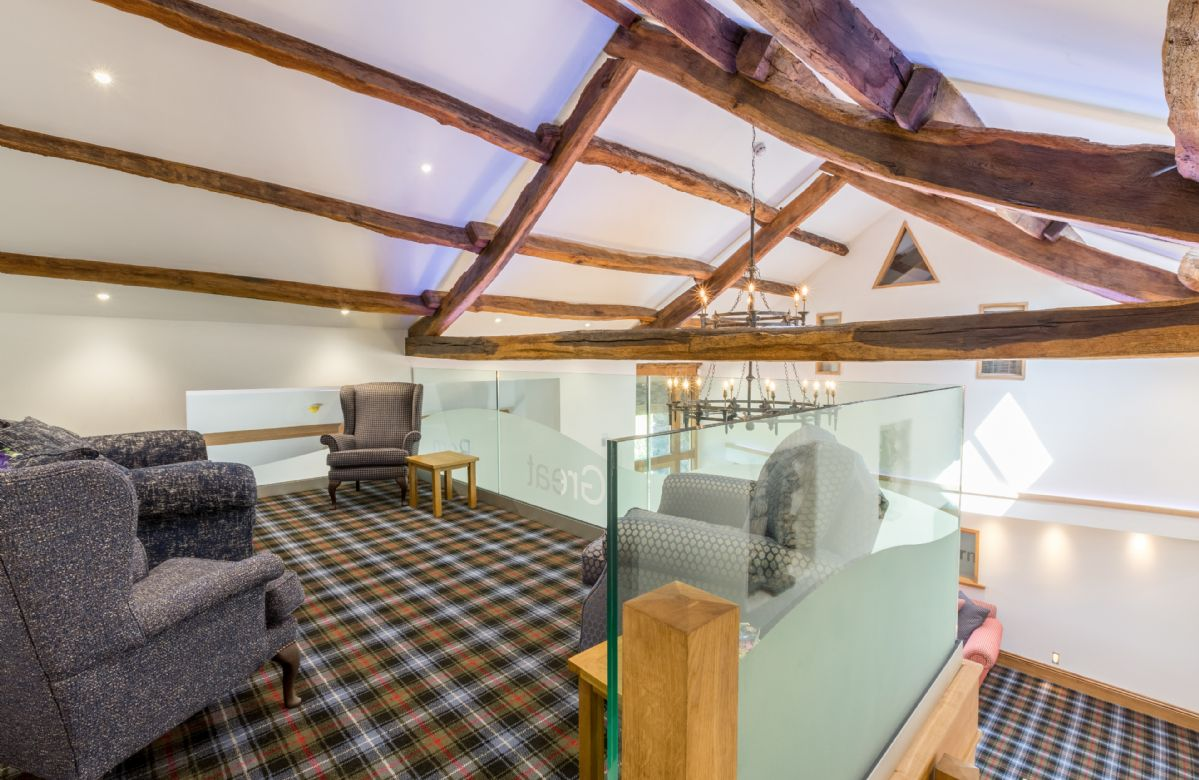 The Great Barn: Large sitting room and minstrel's gallery