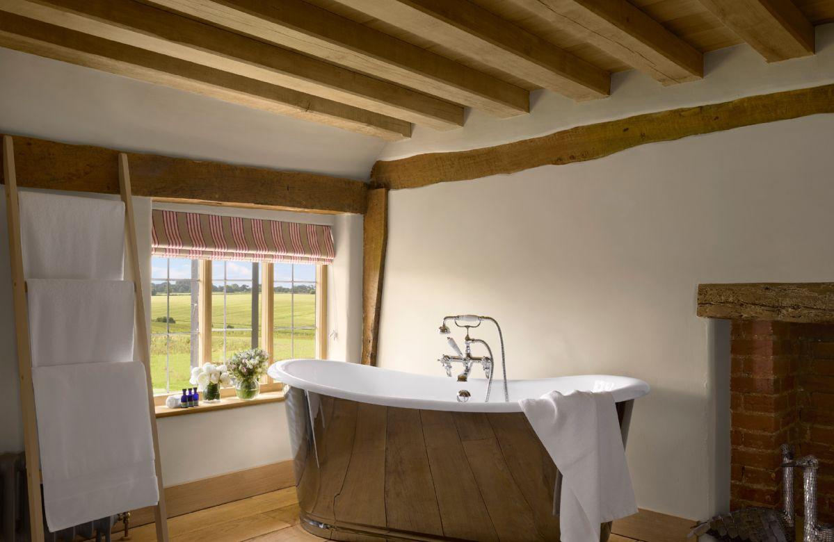 First floor:  Feature bath in the bedroom