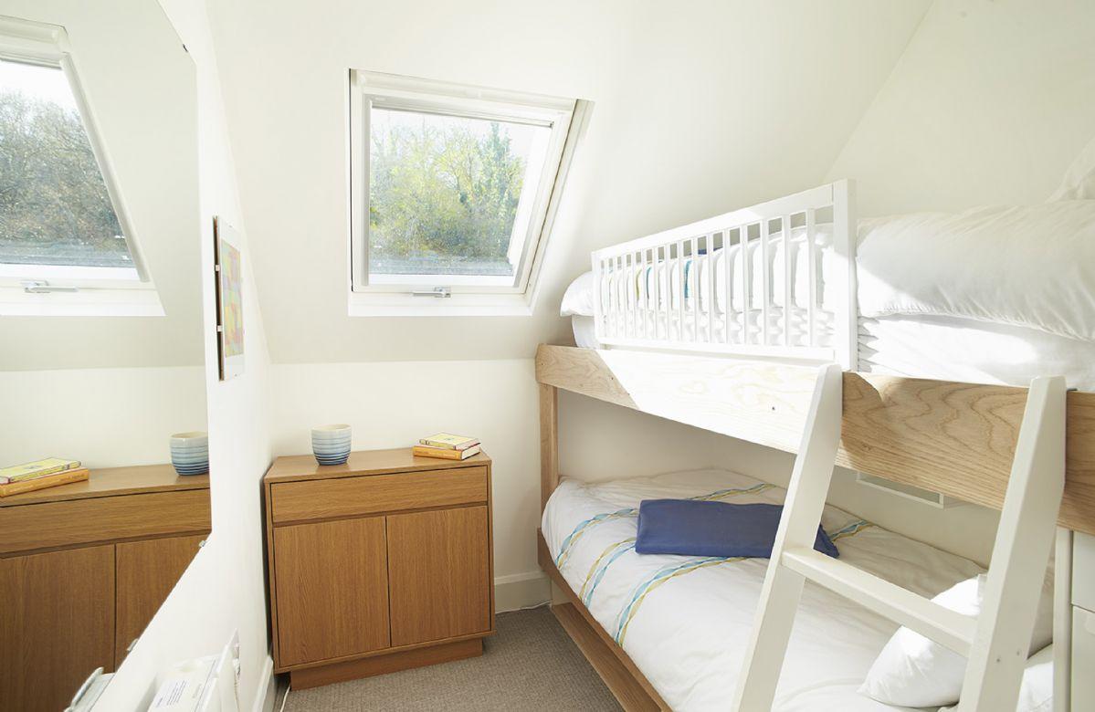 First floor:  Bunk bedroom with 3' bunks