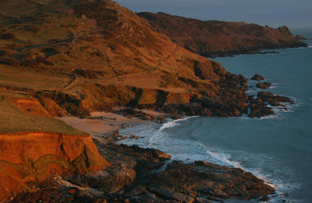The coast at Rickham Sands towards Gammon Head in Devon