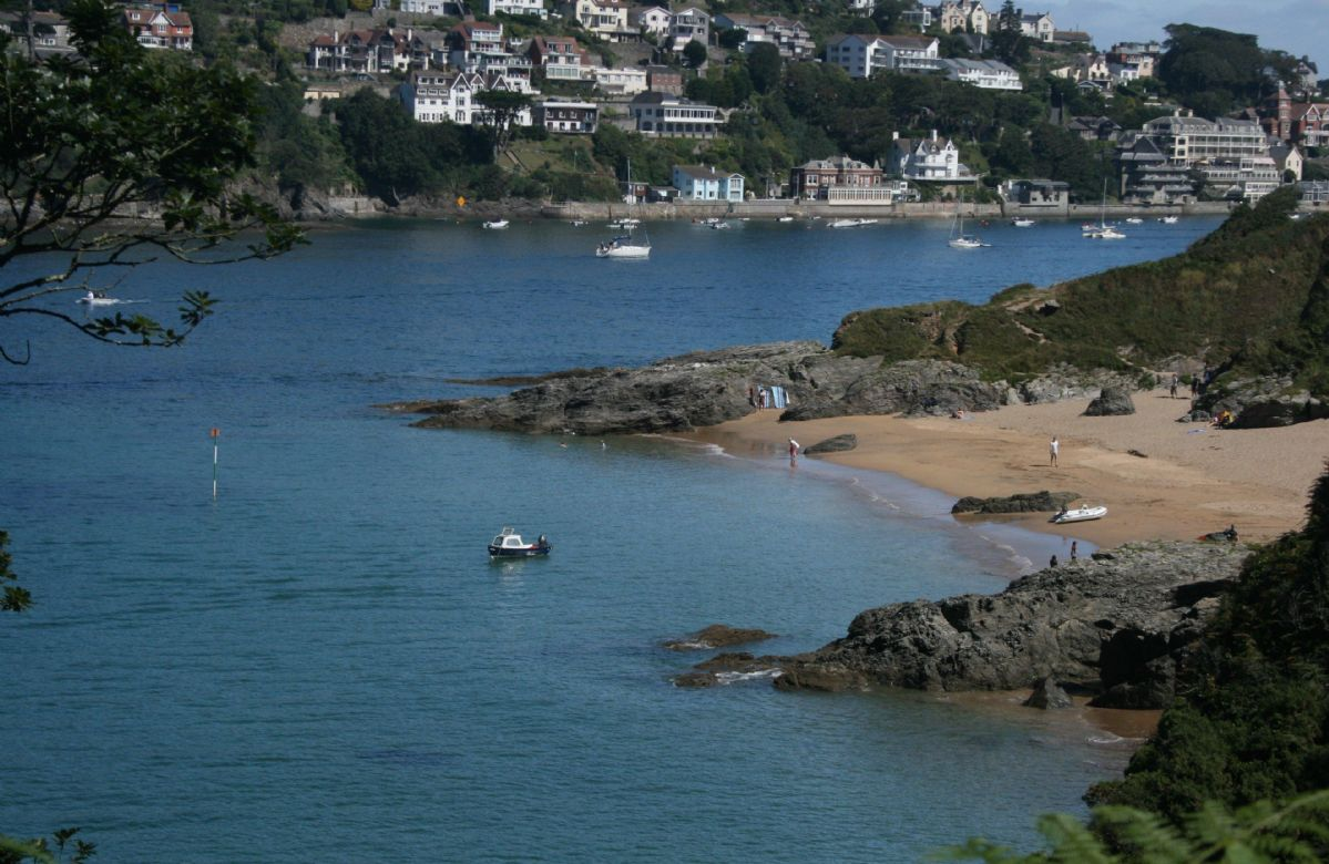 Sunny Cove just a 30 minute walk from the cottage looking towards Salcombe