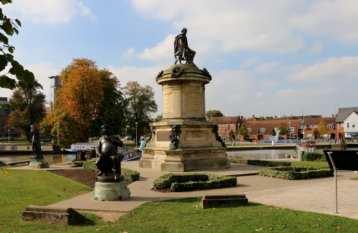 William Shakespeare watches over his birth town