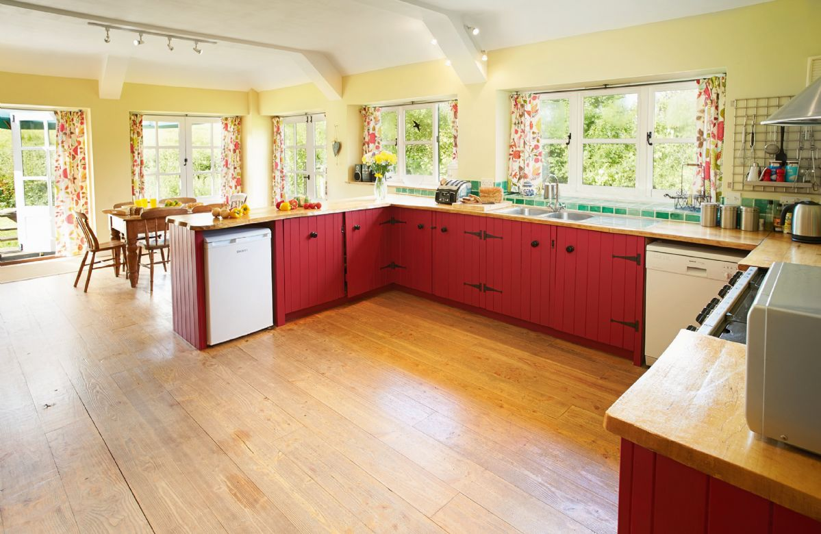 Ground floor:  Large farmhouse kitchen with breakfast table