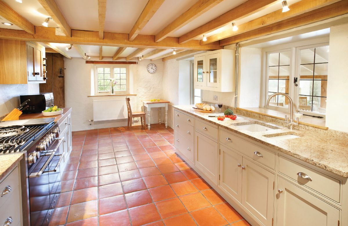 Ground floor: Kitchen with doors to breakfast room/conservatory