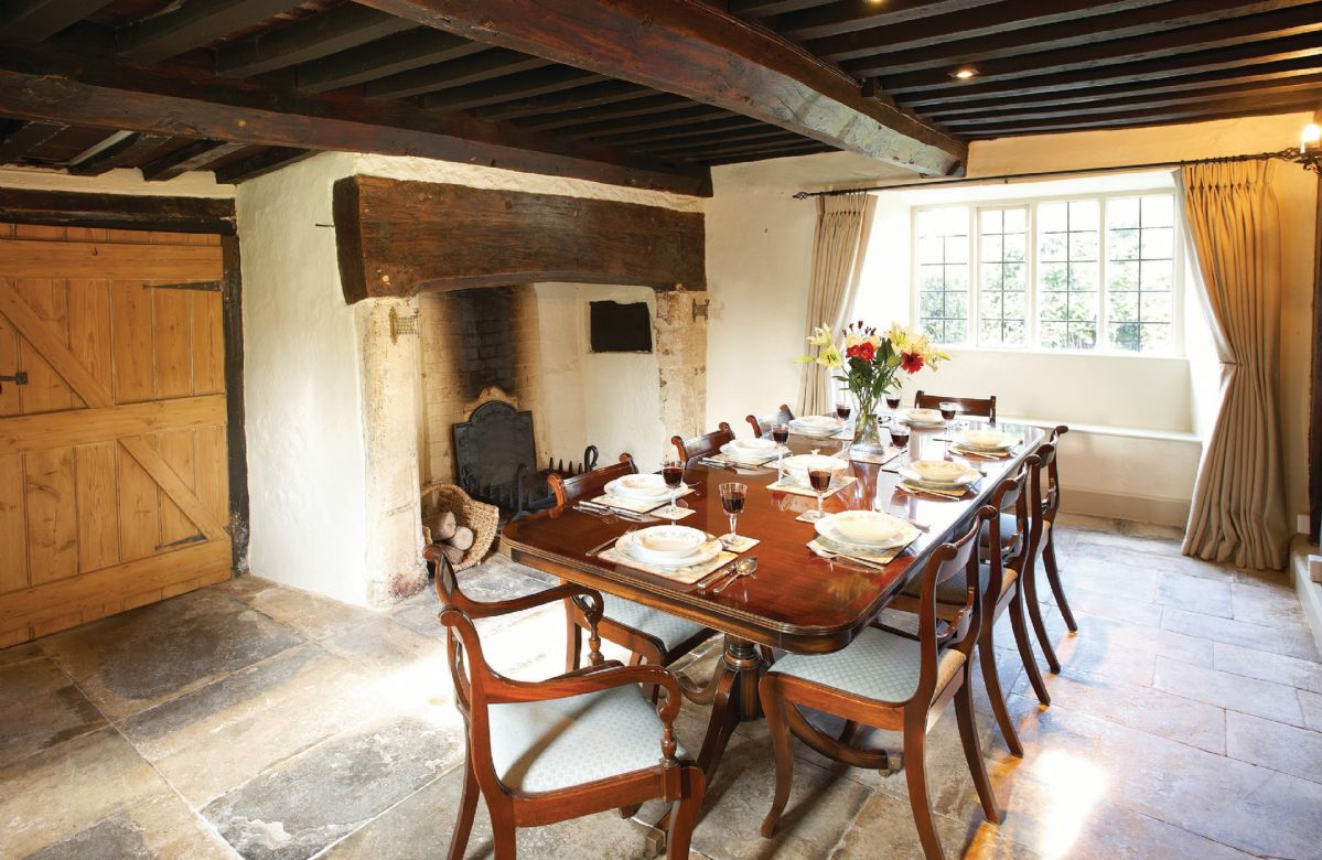 Ground floor:  Dining room (please note this fireplace is not in use)