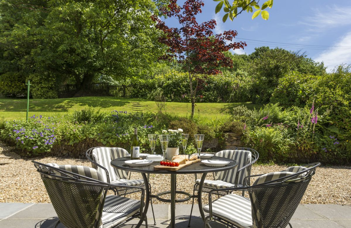 Views of the gardens from the outdoor eating area
