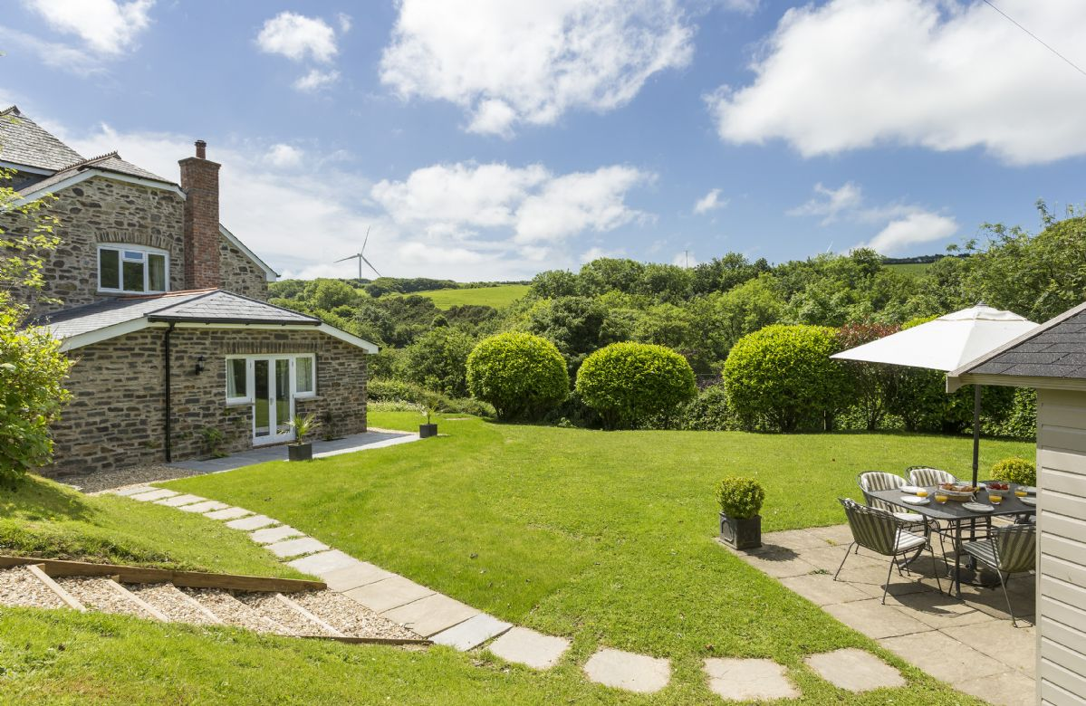 The Summer House is a short stroll across the garden from Bittadon Cottage