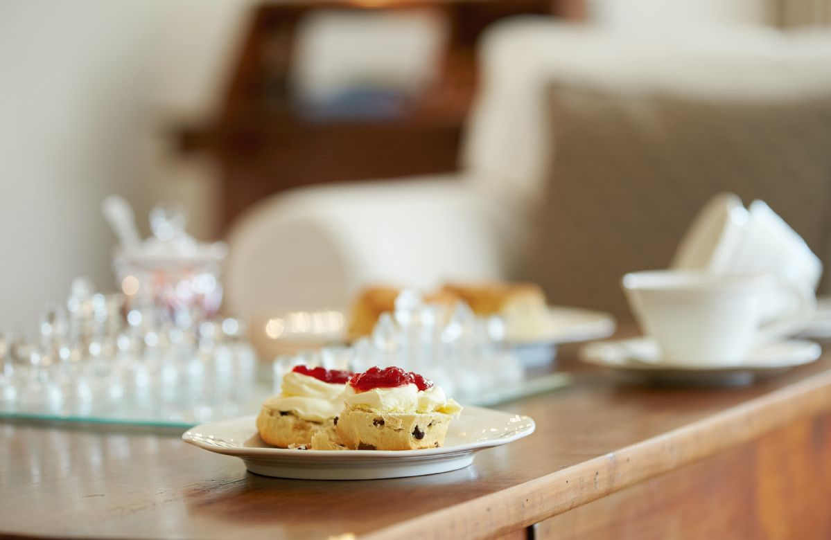The sitting room is the perfect spot for Devonshire cream tea