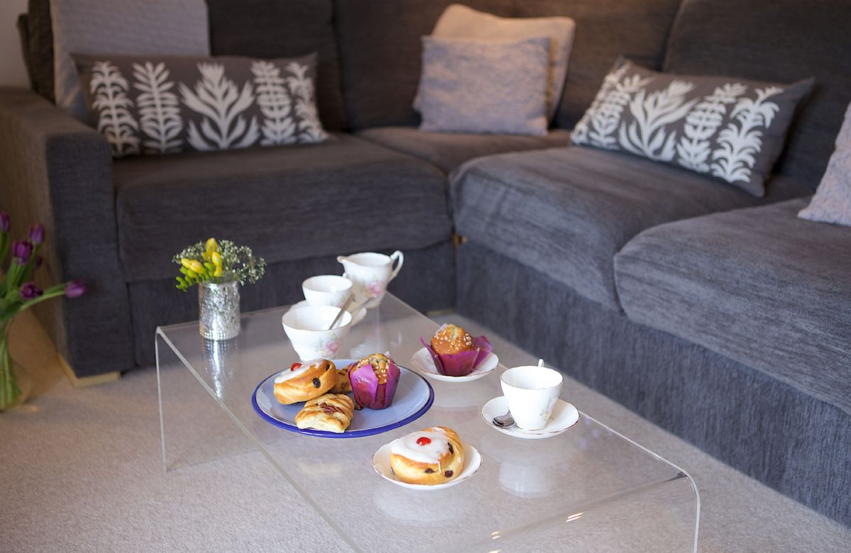 The comfortable sitting area, perfect for afternoon tea