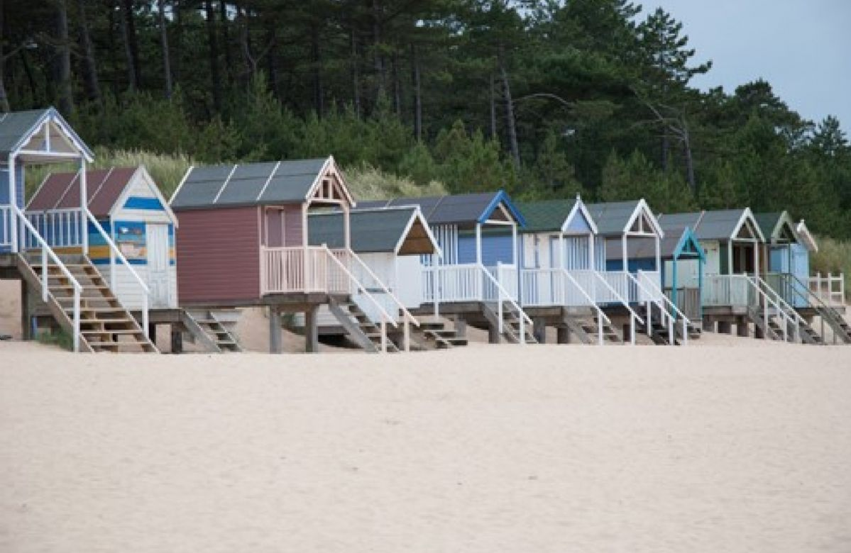The beach huts at Wells-next-the-Sea