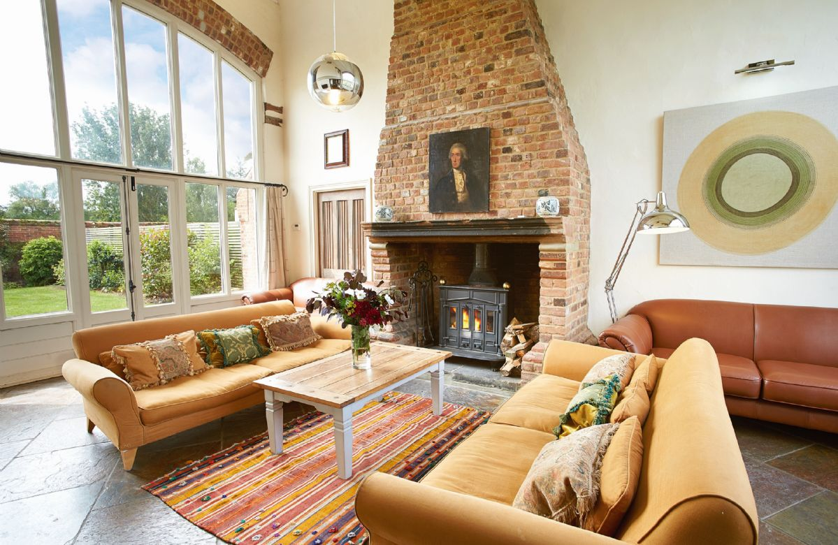 Ground floor:  Drawing room with a wood burning stove and underfloor heating