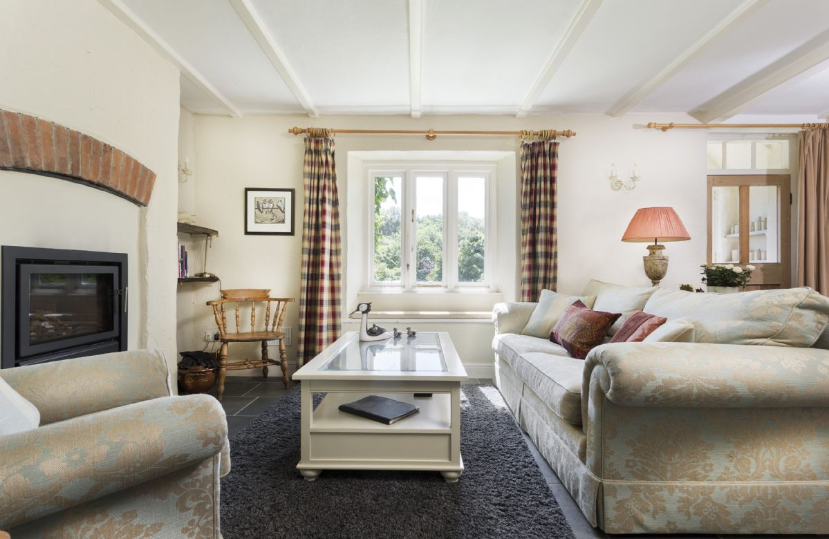 Ground floor: Large family room to read the papers and enjoy the cosy wood burning stove