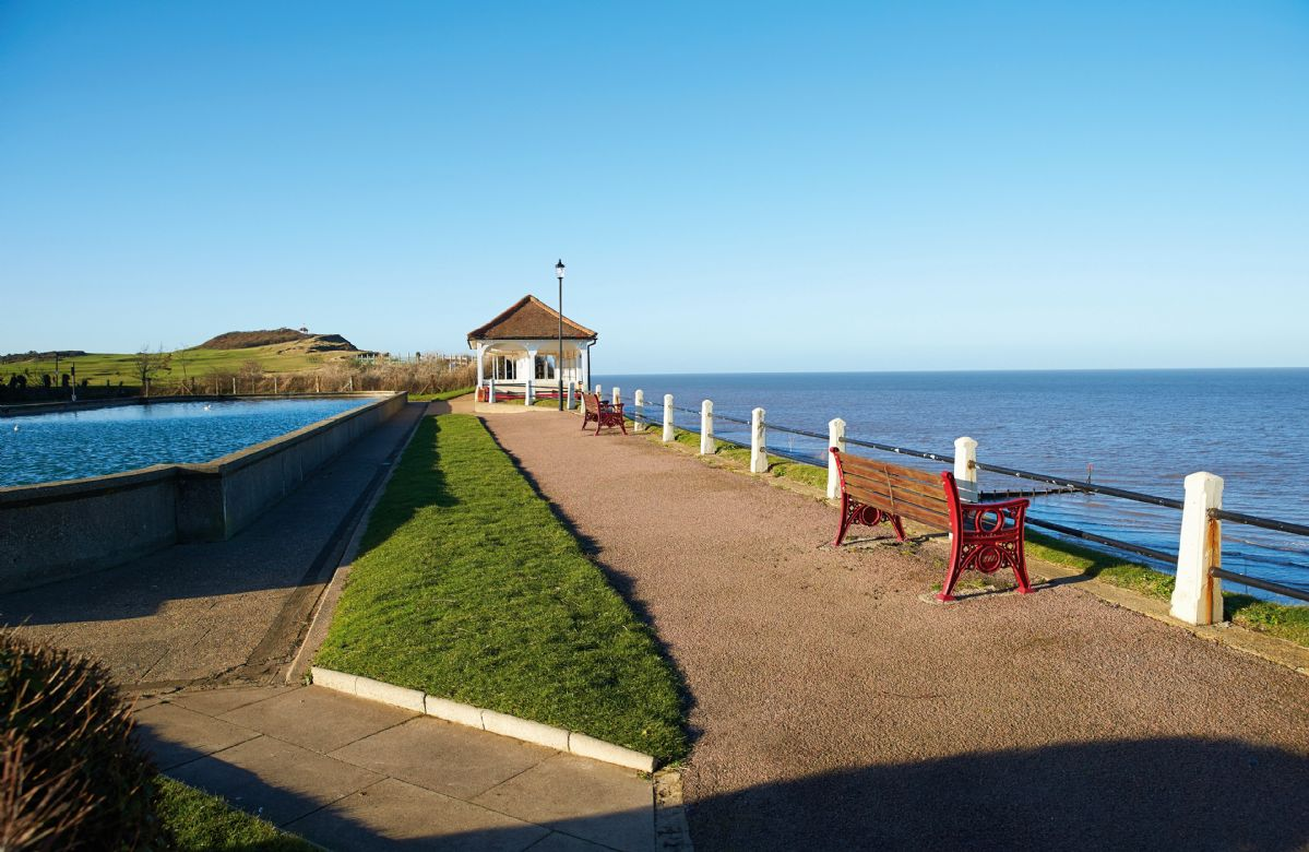 The view point, boating lake and promenade at Sheringham
