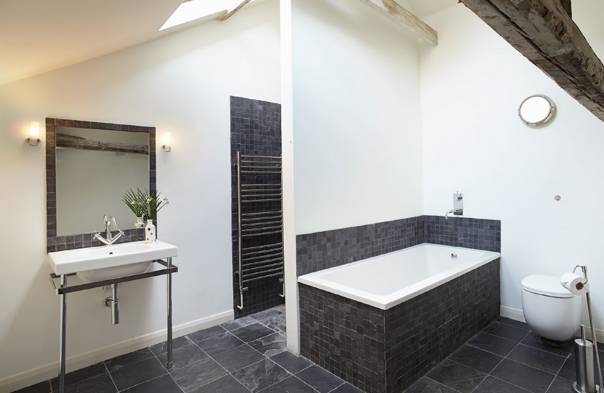 Second floor:  Family bath and shower room