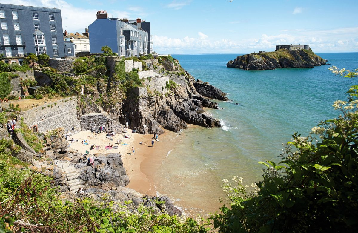 The beautiful seaside town of Tenby