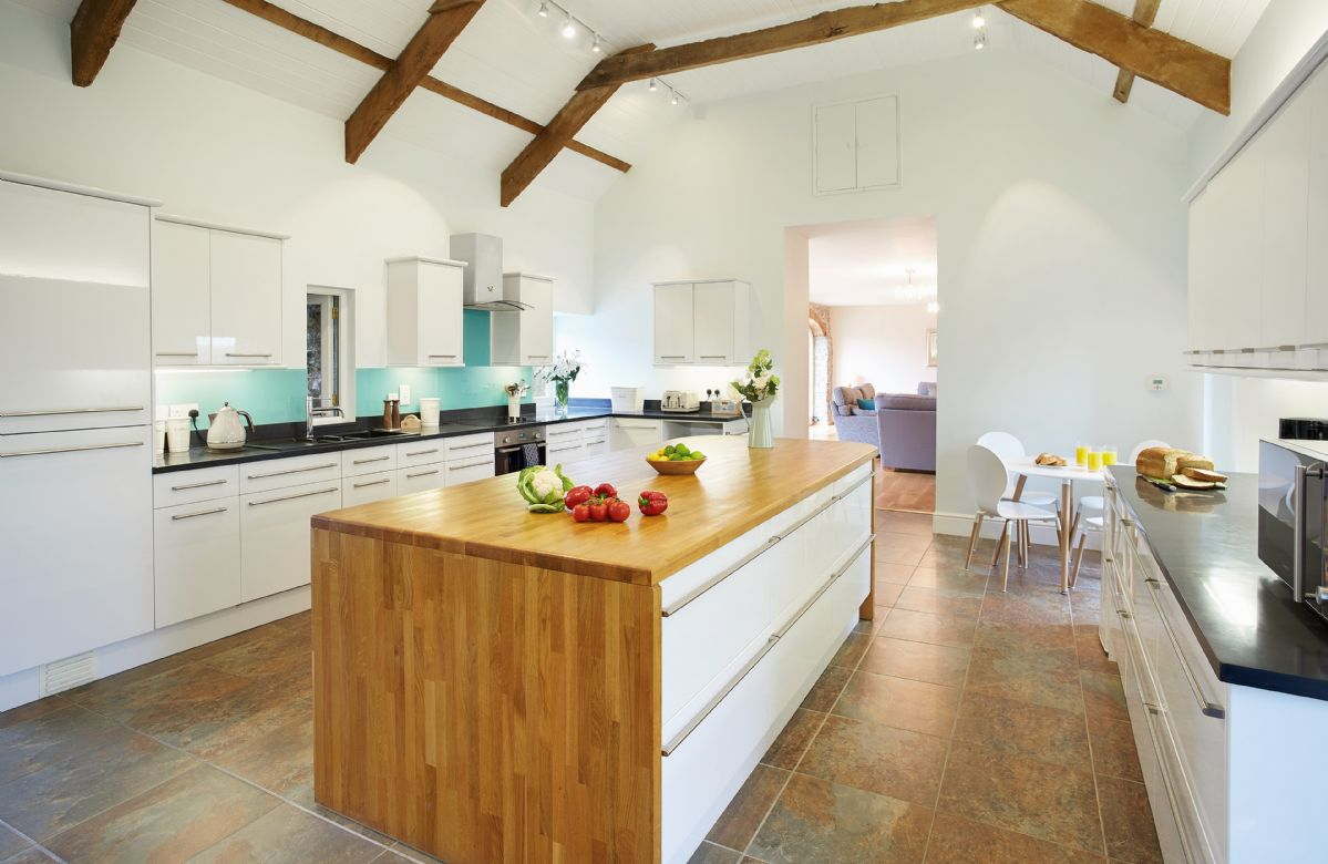 Ground floor:  Spacious kitchen