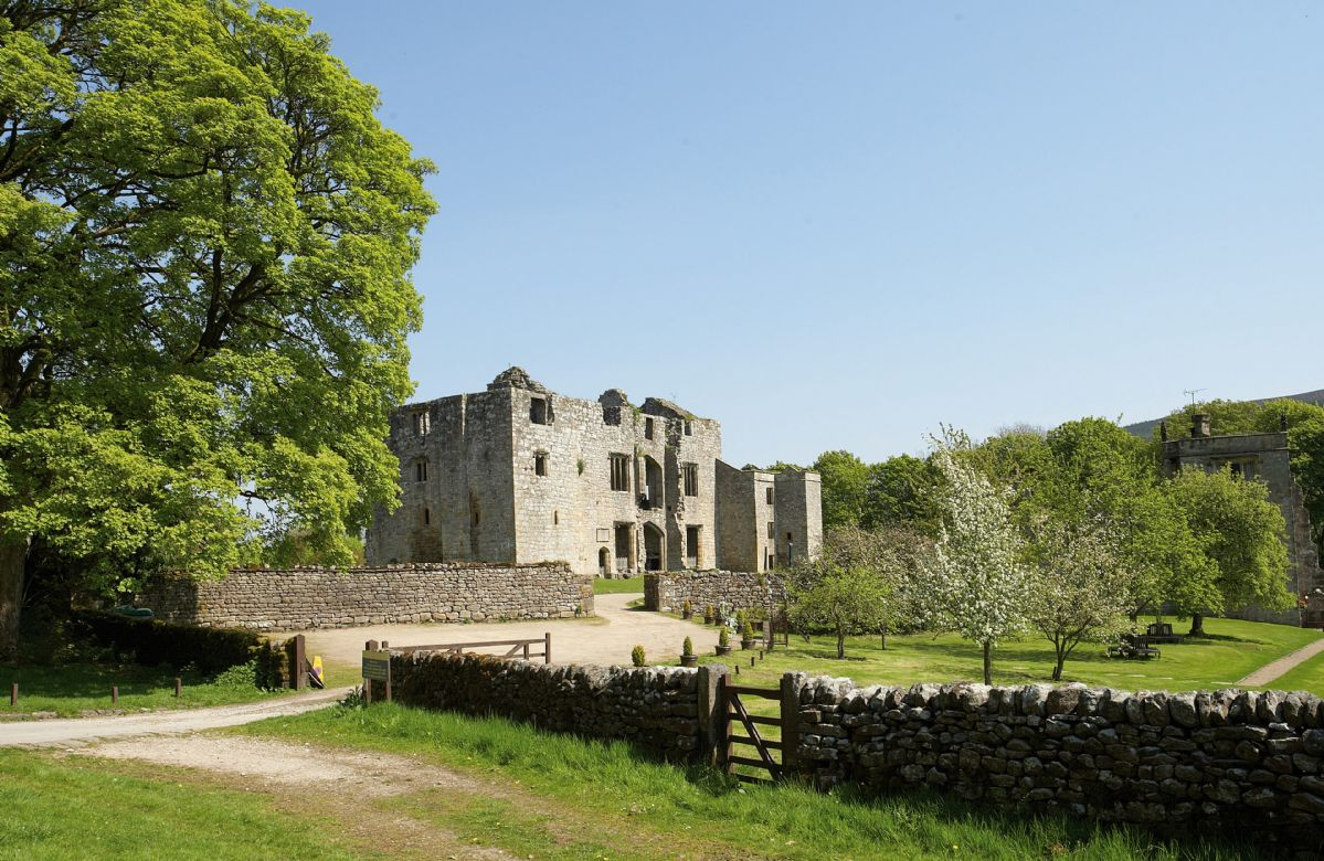 The ruins of Barden Tower are just down the road