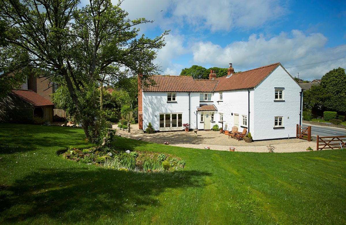 The White House, a chalk Grade II listed property, in the small village of Little Weighton, close to Beverley on the edge of the Yorkshire Wolds