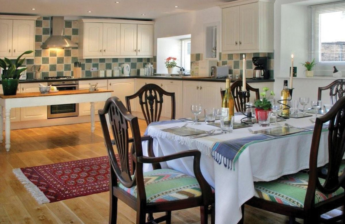 Ground floor:  Very large & airy kitchen with dining area